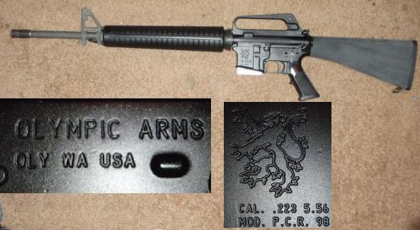 Olympic Arms PCR98 AR-15 5.56 Rifle
