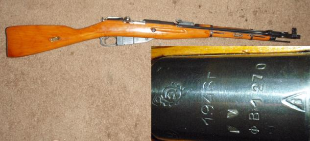 Russian M1944 7.62X54R Carbine Dated 1946 UNISSUED