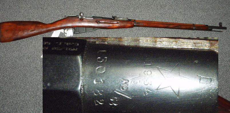 Russian M91/30 MO Marked TULA 1934 /53