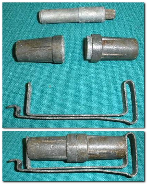 British WW2 PIAT Fuze, Clip & Container