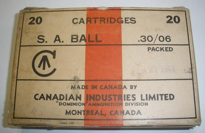 Canadian Industries 30.06 20rd Box Feb 1942