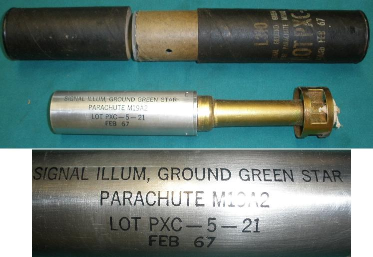 US M19A2 Signal Ground Green Star FEB 67 with Tube
