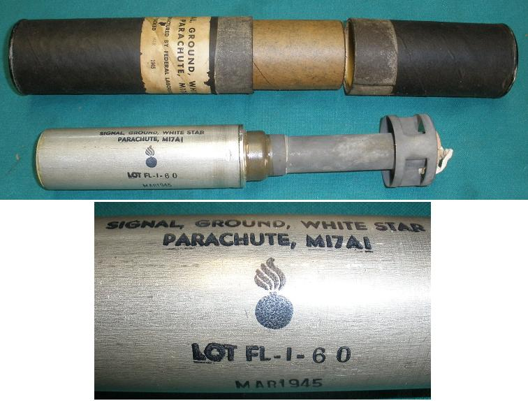 US M17A1 Signal Ground White Star MAR 1945 with Tube