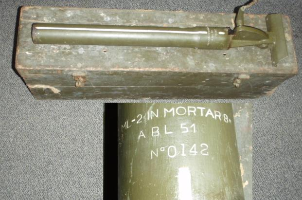 "British 2"" Mortar Tube ML-2 IN MORTAR 8* Demilled"