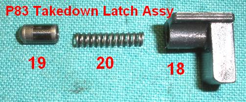 Takedown Latch Spring Polish P-83 Wanad Pistol