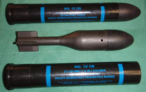 CS 37MM Heavy Barricade Projectile DEF-TEC No 12 CS