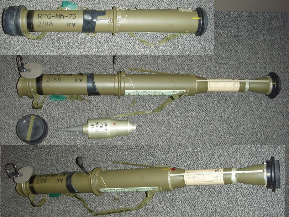 Czech RPG-75 Rocket Launcher with Projectile