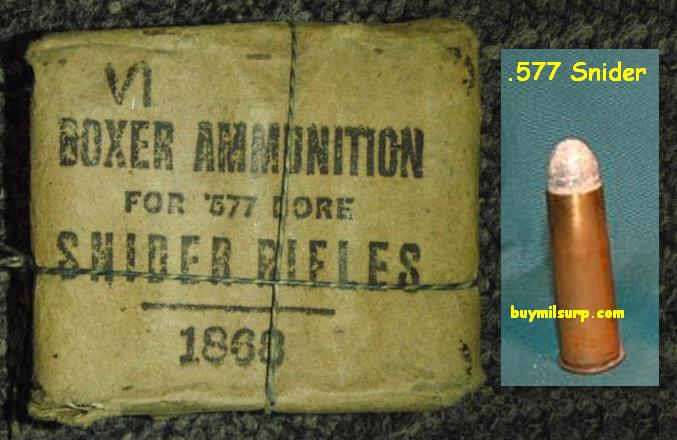 .577 Snider Boxer Ammunition 10rds Dated 1868 (2 Packages)