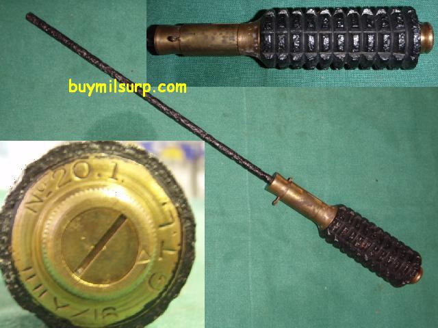 British No. 3 Mk II WW1 Rifle Grenade (P89-16)