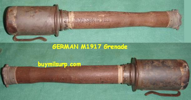 German Model 1917 Hand Grenade INERT