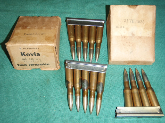 7.62X54R 15 Rounds on Strippers Finnish 1928 2- Boxes