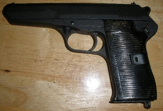 Czech CZ-52 7.62X25 Pistol Blued Finish