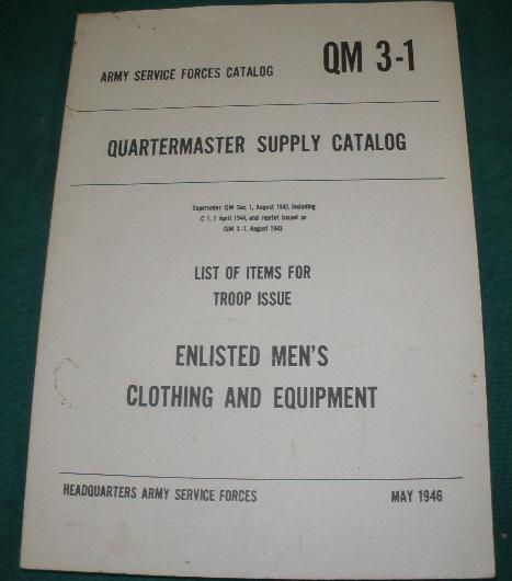 Quartermasters Supply Catalog 1943