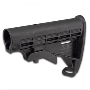 AR T6 Collapsible Stock - Black - Body Assembly Only