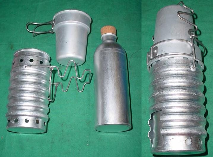 Swiss Beverage flask and Cup, Aluminum