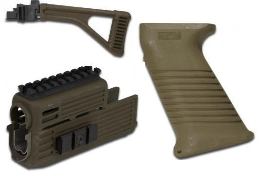Intrafuse QUAD Rail AK Folding Stock Rifle System (OLIVE DRAB)