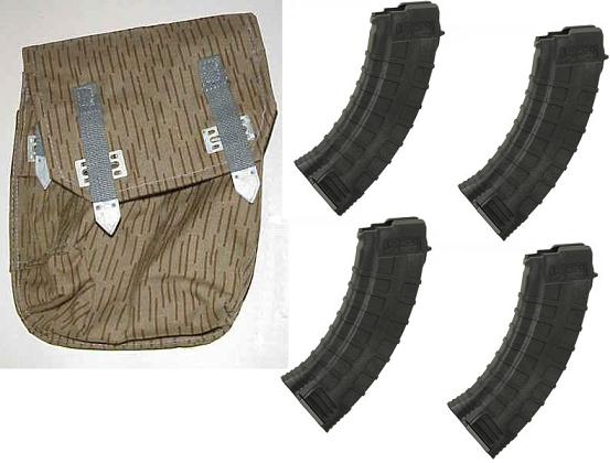 AK Magazine Set - 4 Mags and Pouch