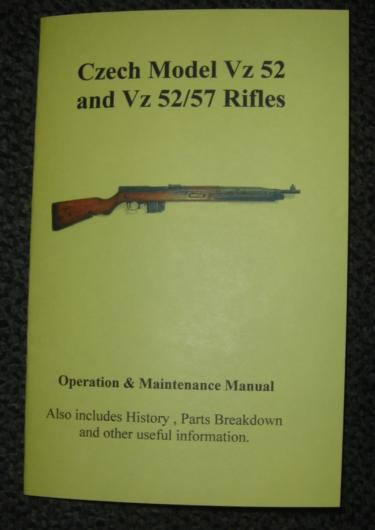 Booklet Czech VZ 52 Rifle