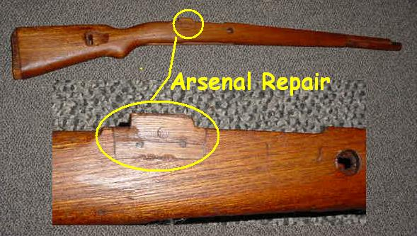 Stock, Yugo M48 Mauser, No Metal , Small Repair