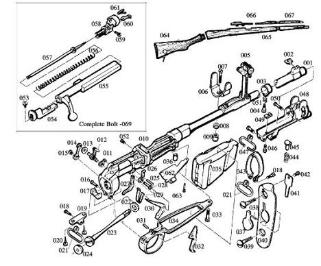 Foreend Stud Spring Lee Enfield No 1 Mk Iii 303 Part 044a P 4054 on m16 full auto parts diagrams